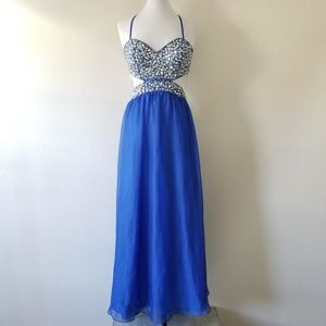 DECODE 1.8 Royal Blue Sparkle Gown 14 (NWT)